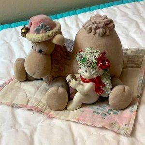 Dreamsickles Angel and Camel Christmas Figurine